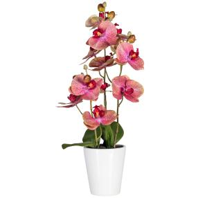 Orchidee im Keramiktopf, 3D-Print pink, 45 cm