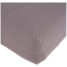 Baumwoll-Spannbettlaken, 100 x 200 cm, grau