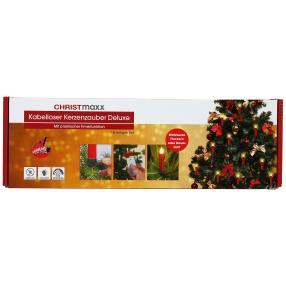 CHRISTmaxx Kerzenzauber Deluxe, rot, 18-teilig