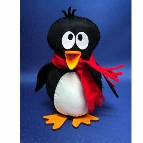 Nähset-Pinguin, Füllwatte-Stopfnadel-Kleber