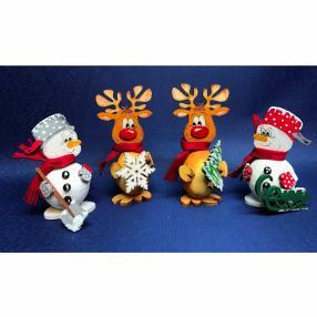 Dicke Weihnachtsfiguren, 4er-Set