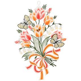 Fensterbild Blumenstrauß