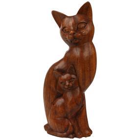 Darimana Katzenpaar, Suarholz, 30 cm