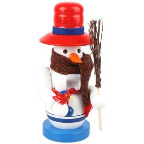 SAICO Nussknacker Schneemann aus Holz mit Schal