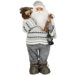 Weihnachtsmann Ulf, grau, 60 cm