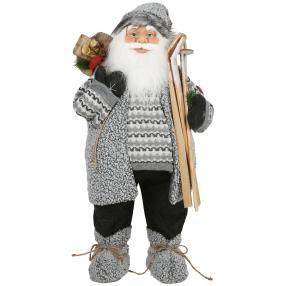 Weihnachtsmann Brian, grau, 80 cm