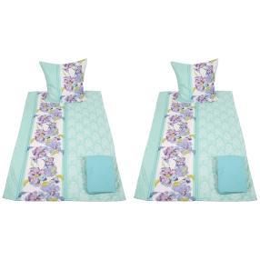 AllSeasons Bettwäsche, Blumenranken blau, 8-teilig