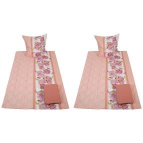 AllSeasons Bettwäsche, Blumenranken rosa, 8-teilig