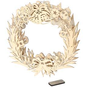 LED Holz Ornamentkranz