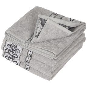 Handtuch silbergrau, 50 x 100 cm, 4er Set