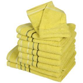 Handtuchset XXL, grün, 10-teilig