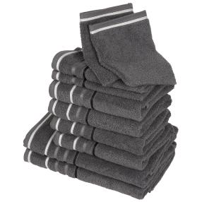 Handtuchset XXL, grau, 10-teilig