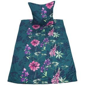 AllSeasons Bettwäsche, pinke Blumen, 2-teilig