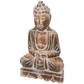 Darimana, Buddha sitzend aus Albesiaholz, 40 cm