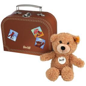 Steiff Teddy mit Koffer, braun