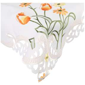 Mitteldecke Frühling, bestickt, 85 x 85 cm