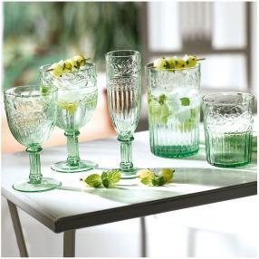 Rotweinglas-Set, 6-teilig grün