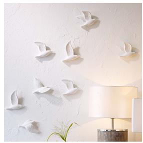 IMPRESSIONEN living Wand-Deko-Set, 5-tlg. Weiß