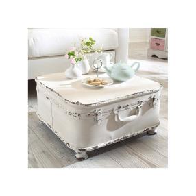 miaVILLA Beistelltisch Koffer Weiß
