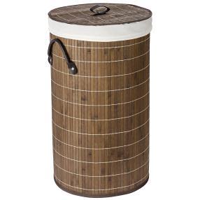 WENKO Wäschetruhe Bamboo Dunkelbraun