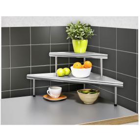 WENKO Küchen-Eckregal Massivo Duo mit 2 Ablagen