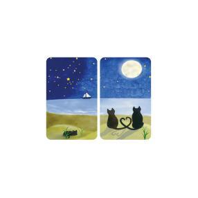 WENKO Herdabdeckplatte Universal Katzen, 2er Set