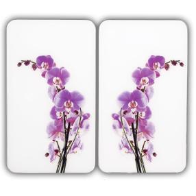 WENKO Herdabdeckplatte Universal Orchideenblüte