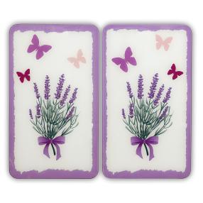 WENKO Herdabdeckplatte Universal Lavendel-Bouquet