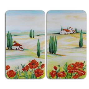 WENKO Herdabdeckplatte Universal Toscana, 2er Set