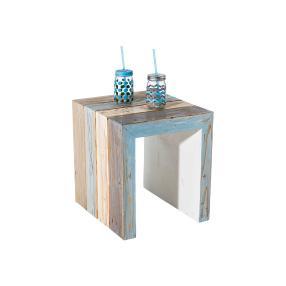 miaVILLA Beistelltisch Stripe, blau, 40x45x46 cm