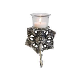 miaVILLA Wandteelichthalter Antik, Silberfarben