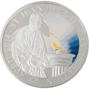 Münze Heiligsprechung Papst Johannes Paul II.