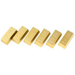 6er Set Goldbarrenmagnete