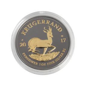 Bull & Bear Blackline Krugerrand - Springbok