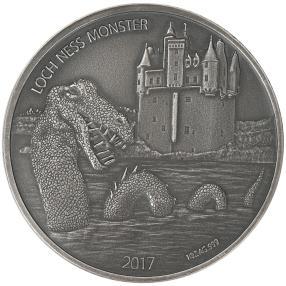 Silbermünze Loch Ness