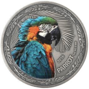 Papagei Silbermünze