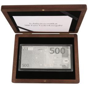 Silberbanknotenreplikat 500EUR
