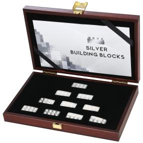 Silver Building Blocks Set