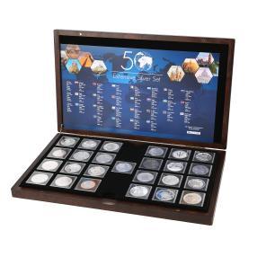 50 Ag Münzen aus 50 Ländern
