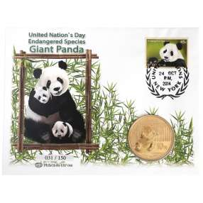 U.N. - Panda 2014 Silbermünzbrief