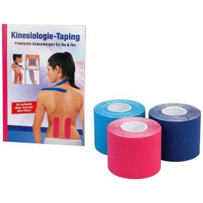 VITALmaxx Physio-Tape Set 3tlg. + Buch