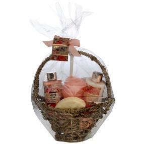 Geschenkkorb mit Henkel Velvety Peach