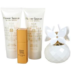 Flower Season Snow White 4er Set für Damen
