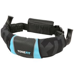 ToneFit Fitnessgürtel Laufgürtel schwarz/blau