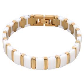 Alexander Milton Armband weiß/golden