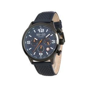"So & Co Herren-Chronograph ""Taikeca"" Lederband"