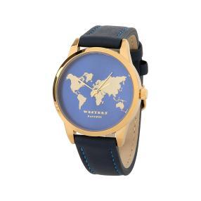 """Western Pacific Damenuhr """"World"""" IP-vergoldet"""