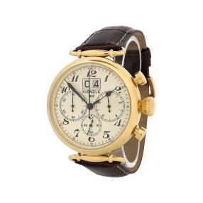 KIENZLE Retro-Chronograph Herrenuhr IP-vergoldet