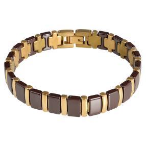 Alexander Milton Keramik-Armband braun vergoldet