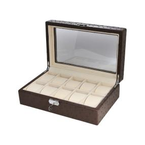 Uhrenbox für 10 Uhren, mit Sichtfenster